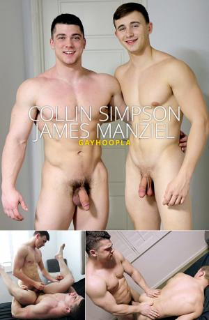 GayHoopla – James Manziel gets his virgin ass pounded in hot flip fuck with Collin Simpson