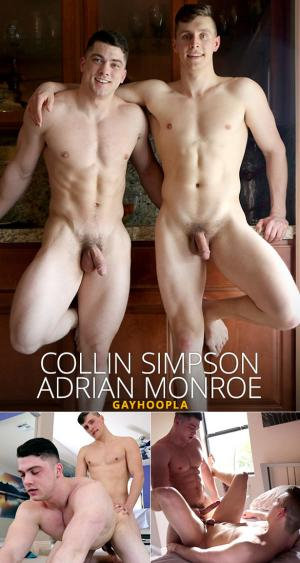 GayHoopla – Collin Simpson fucks Adrian Monroe's virgin ass