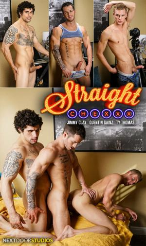 NextDoorStudios – Straight Chexxx, Episode 4: All Aboard – Jimmy Clay, Quentin Gainz and Ty Thomas fuck each other