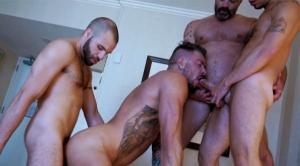 TimFuck – The Hungry Butt of Dolf Dietrich – Dolf Dietrich, Rex, Justin Case & Braxton Smith – Bareback