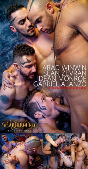 FalconStudios – Earthbound: Heaven to Hell 2 – Dean Monroe and Gabriel Alanzo get pounded by Sean Zevran and Arad Winwin