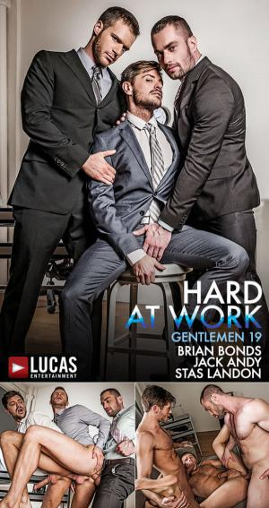 LucasEntertainment – Stas Landon & Jack Andy Double Penetrate Brian Bonds After Hours – Bareback