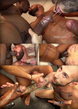 DarkAlleyXT – Double Pounded – Angel Garcia,  Everwolf & Titan – Bareback