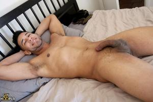 GayHoopla – Michael Santos Jerks His Uncut Cock And CUMS