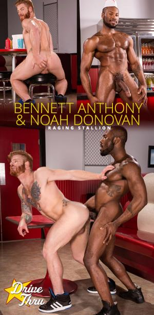 Raging Stallion – Drive Thru – Bennett Anthony gets fucked by Noah Donovan and his 9.5-inch dick