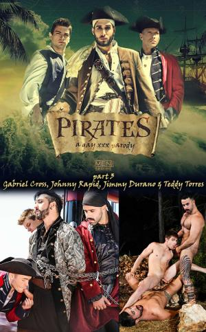 SuperGayHero – Pirates: A Gay XXX Parody Part 3 – Gabriel Cross, Johnny Rapid, Jimmy Durano & Teddy Torres – Men.com