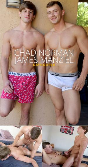 GayHoopla – Chad Norman cums twice taking James Manziel's cock