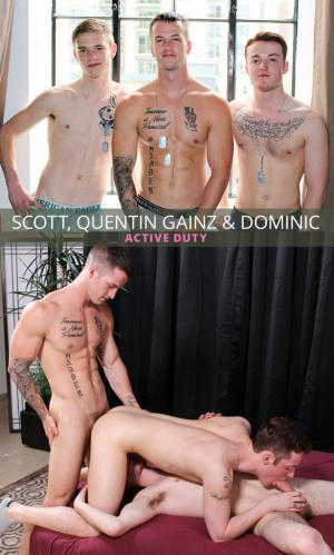 ActiveDuty – Quentin Gainz, Scott & Dominic's raw threeway