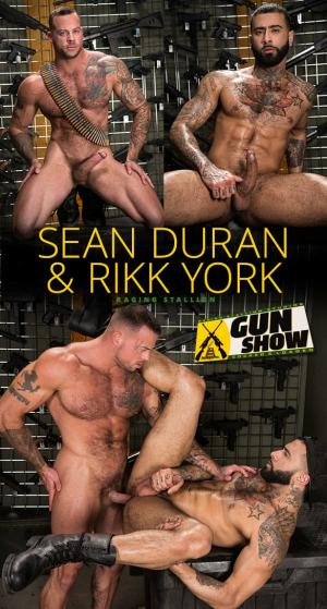 RagingStallion – Gun Show – Sean Duran pounds Rikk York