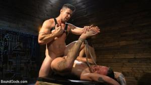 BoundGods – Pleasure and Pain for Trenton Ducati's New Submissive Slut – Trenton Ducati & Hoytt Walker
