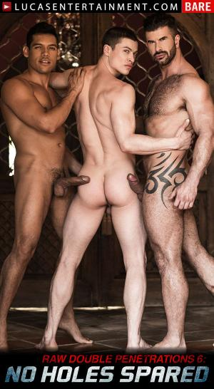 LucasEntertainment – Alejandro Castillo & Adam Killian Take Turns Breeding Ruslan Angelo – Bareback