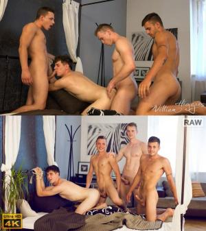 WilliamHiggins – Wank Party #87, Part 2 RAW – WANK PARTY – Adam Nezval, Hugo Antonin, Nikola Donoval & Oliver Hruby