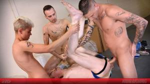YoungBastards – Koda Ducati Used As Fuck-Thing By Group Of Bare Fuckers – Bareback