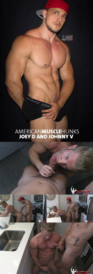AmericanMuscleHunks – Joey D & Johnny V – Part 2