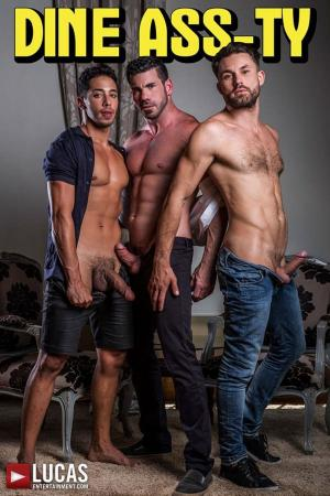 LucasEntertainment – Dine Ass-ty – Drae Axtell, James Castle & Billy Santoro – Bareback