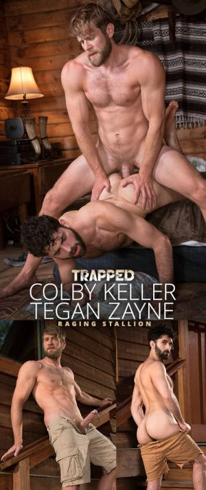 RagingStallion – Trapped – Colby Keller bangs Tegan Zayne