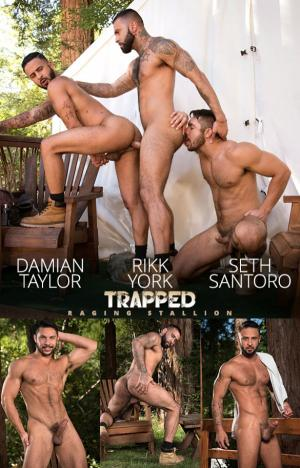 RagingStallion – Trapped – Seth Santoro, Rikk York & Damian Taylor's hot threesome