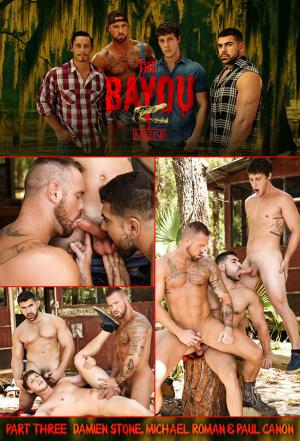 Men.com – The Bayou Part 3 – Damien Stone, Michael Roman & Paul Canon's hot threeway fuck – DrillMyHole