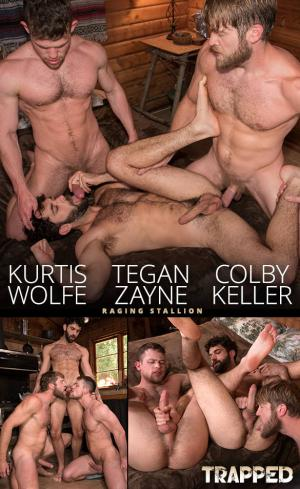 RagingStallion – Trapped – Colby Keller fucks Kurtis Wolfe and Tegan Zayne