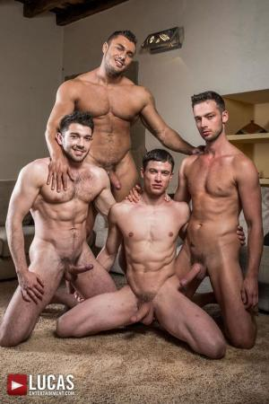 LucasEntertainment – Raw Double Penetrations 07: Jam Packed – Raw Double Fucking – Ben Batemen, Brock Magnus, Ruslan Angelo & Damon Heart – Bareback