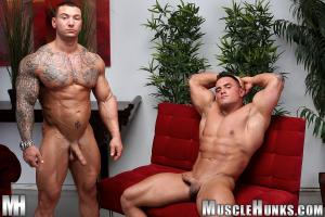 MuscleHunks – Caleb Del Gatto & Jackson Gunn – Beasts & Butts