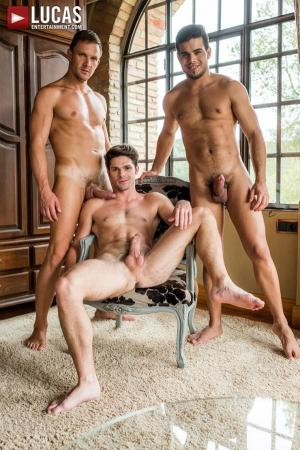 LucasEntertainment – Devin Franco Takes Double The Cock from Andrey Vic & Rico Marlon – Bareback