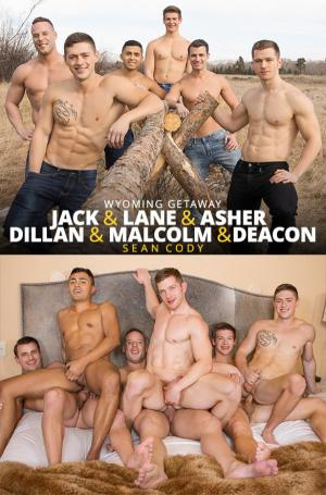 SeanCody – Wyoming Getaway Part 5 – Jack, Dillan & Malcolm fuck Asher, Deacon & Lane raw