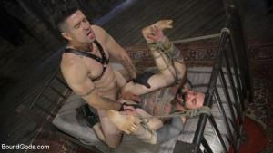 BoundGods – Ripped God Teddy Bryce Fucked and Beaten in Rope Bondage by Hot Stud! – Trenton Ducati