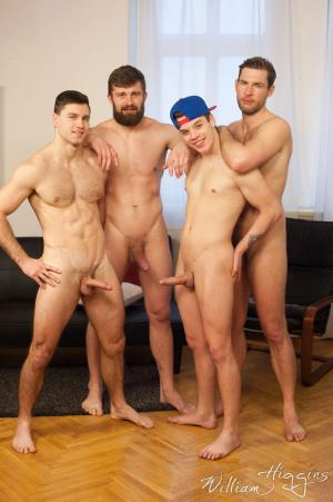 WilliamHiggins – Wank Party #93, Part 1 RAW – Adam Zrzek, Karel Polak, Nikol Monak & Tomas Salek