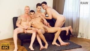 WilliamHiggins – Wank Party #83 RAW – BACKSTAGE – Romi Zuska, Petr Cisler, Rudolf Poper & Tom Vojak – Bareback