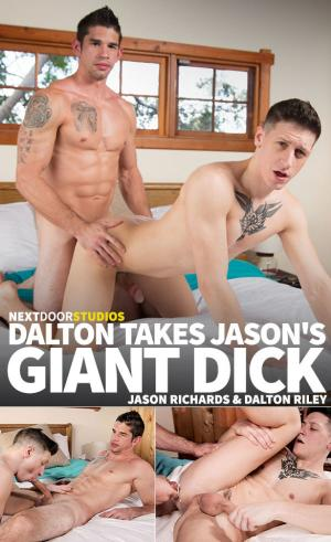 NextDoorBuddies – Big-dicked Jason Richards creams Dalton Riley – Bareback