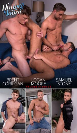 FalconStudios – Hungry for Moore – Brent Corrigan, Logan Moore & Samuel Stone's hot threesome