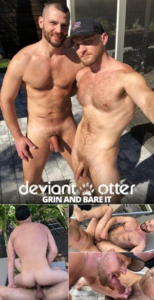 DeviantOtter – Grin and Bare It – Devin Totter & Jake Morgan flip fuck raw