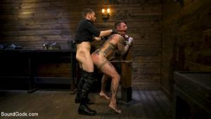 BoundGods – Endure The Pain – Straight Stud Dane Stewart Slave Training with Sebastian Keys