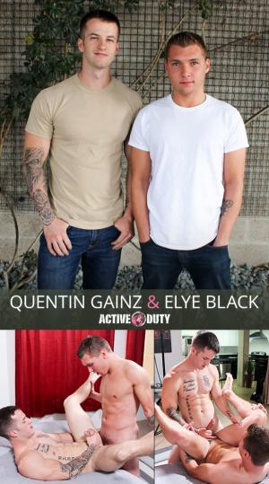 ActiveDuty – Quentin Gainz & Elye Black fuck each other bareback