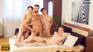 WilliamHiggins – Wank Party #96, Part 2 RAW – Franta Tucny, Karel Polak, Karel Opec & Leo Lombar – Bareback