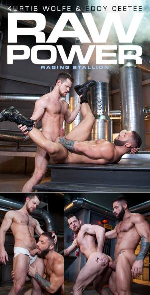 RagingStallion – Raw Power – Kurtis Wolfe and Eddy CeeTee flip fuck bareback
