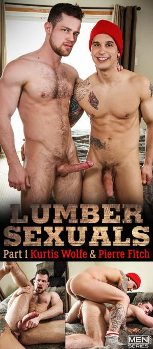 Men.com – Lumbersexuals, Part 1 – Pierre Fitch tops Kurtis Wolfe – DrillMyHole