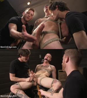 MenOnEdge – Tattooed Stud Dane Stewart Gets His Big Dick Electrified and Edged