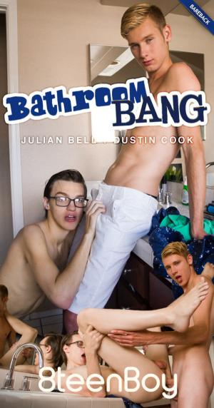 Helixstudios – Bathroom Bang – Julian Bell & Dustin Cook Flip-Fuck – Bareback – 8TeenBoy