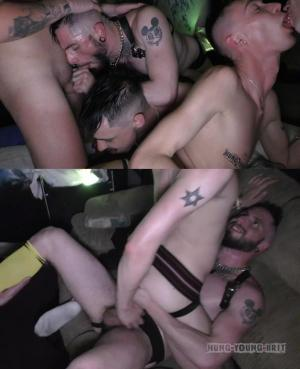HungYoungBrit – RAW orgy @ mine after awards Dirty cum Pig party