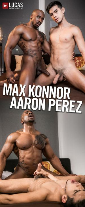 LucasEntertainment – Thick-dicked muscle stud Max Konnor fucks Aaron Perez raw