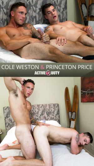 ActiveDuty – Newcomer Cole Weston barebacks Princeton Price