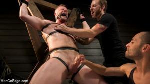 MenOnEdge – Built Boy Brian Bonds in Bondage takes Fat Toys, Tickling, Fucksaw