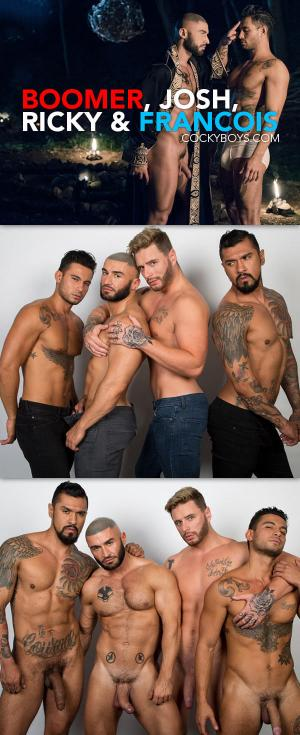 CockyBoys – Jake Jaxson's All Saints Part 4 starring Boomer Banks, Josh Moore, Ricky Roman & Francois Sagat