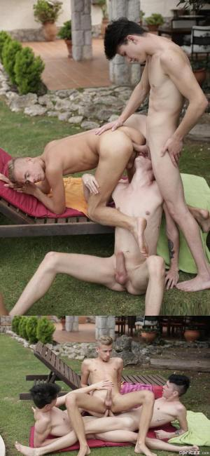 Spritzz – Ray craves some raw twink double penetration – Gabriel, Ray & Xavier – Bareback