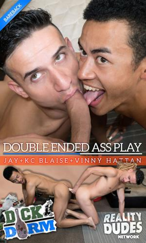 RealityDudes – Double Ended Ass Play – Jay, KC Blaise & Vinny Hattan – DickDorm