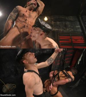 BoundGods – A Hard Place: Casey Everett Tormented And Fucked In Full Suspension – Sebastian Keys & Casey Everett