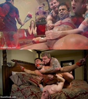 BoundGods – Valentine's Visitors: Draven Navarro Gets Whipped and DP'd – Colby Jansen, Draven Navarro & Sebastian Keys