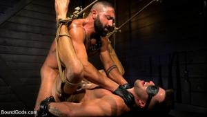 BoundGods – My God Sharok – Casey Everett Worships New Leather-Clad Master